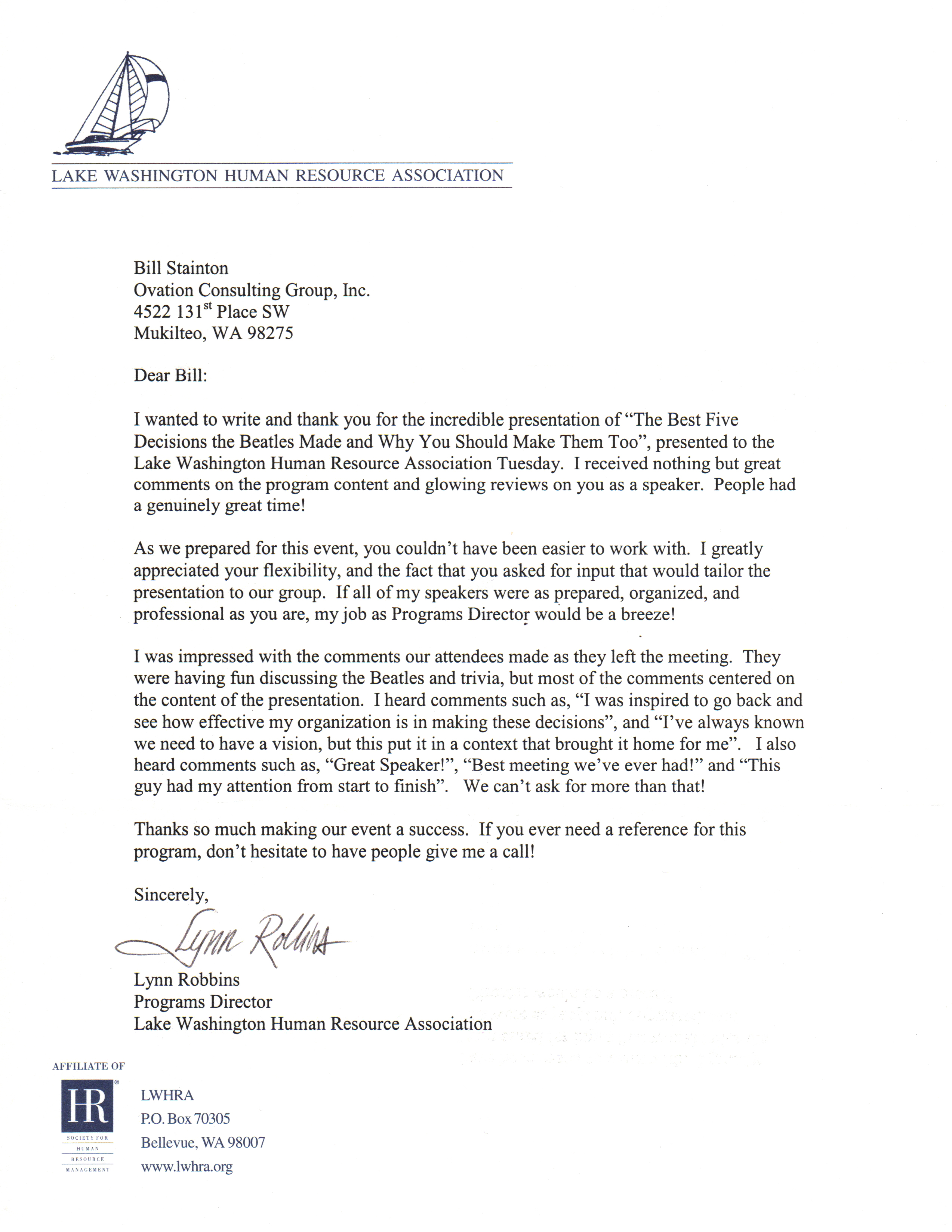 Business testimonial template a simple business like page template lk wa human resources testimonial letter the executive producer wajeb Image collections